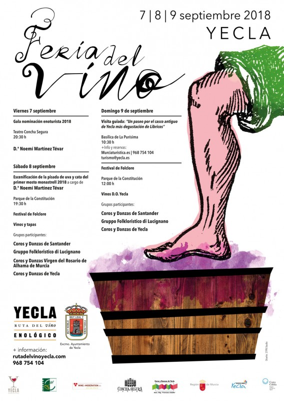 <span style='color:#780948'>ARCHIVED</span> - 7th to 9th September 2018 Feria del Vino in Yecla