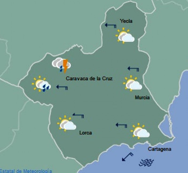 Revised Aemet Murcia weather forecast: gota fría storms leave the Costa Cálida