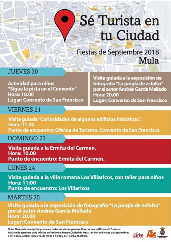 20th to 25th September Free guided tours and activities in Mula