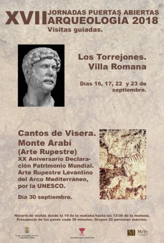 16th, 17th, 22nd, 23rd Open day at the Los Torrejones Roman Villa site in Yecla