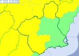 Yellow alert for thunderstorms on Monday afternoon in much of Murcia