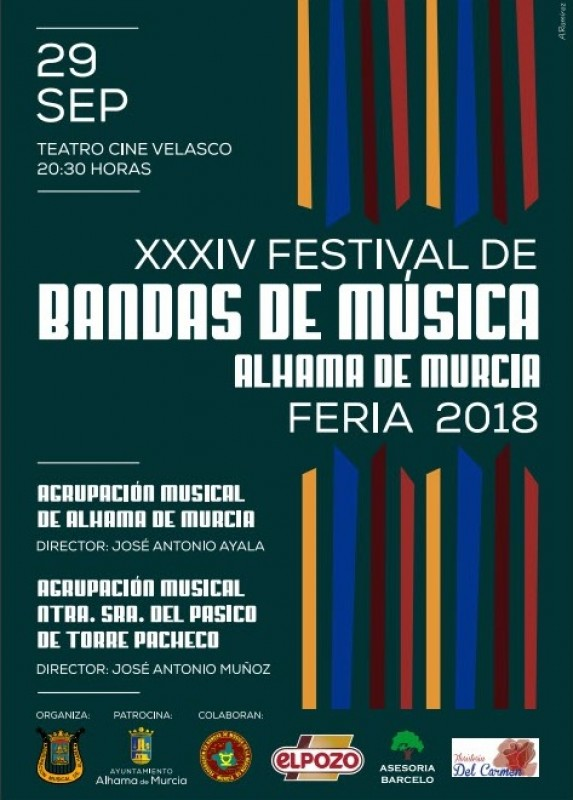 29th September free bands concert in Alhama de Murcia