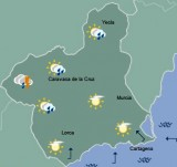 Yellow storm alert in north-west Murcia, warm and sunny on the coast