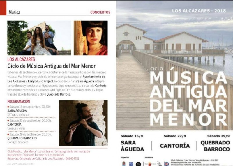 22nd September free early music concert in Los Alcázares