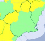 Yellow storm alert in north and north-west Murcia on Wednesday
