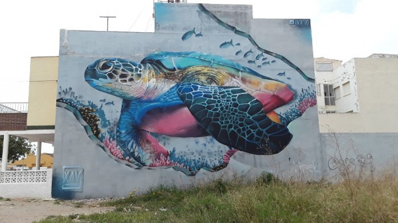 3rd November Los Alcázares; Free guided walking route to see urban art in the municipality
