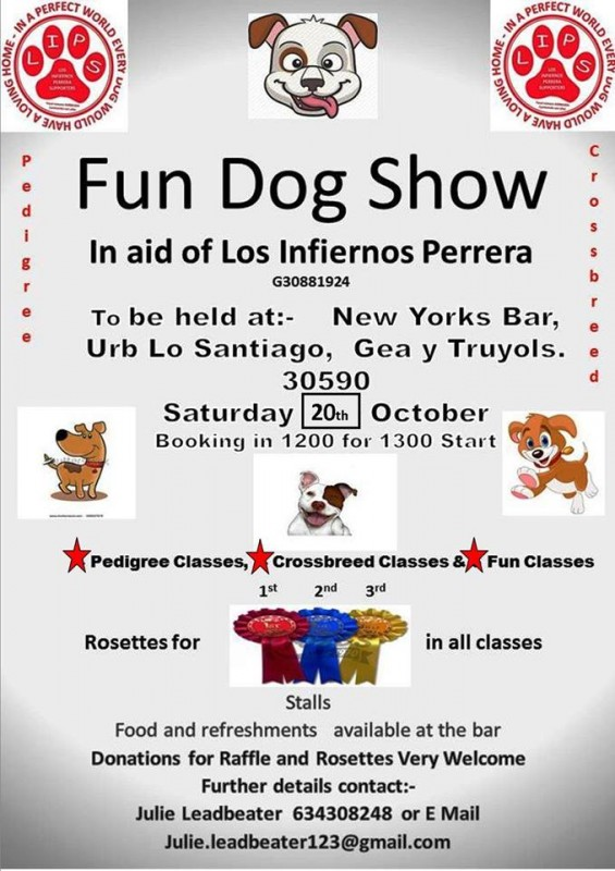 20th October Fun dog show for Los Infiernos Perrera dogs