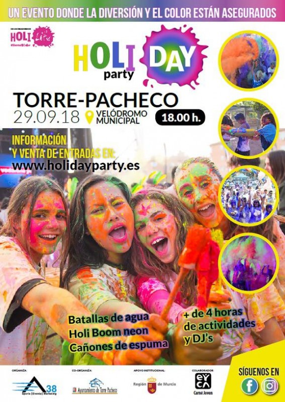 29th September Holi Day Party in Torre Pacheco