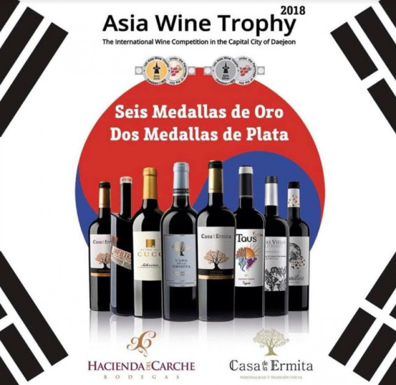 Awards heaped on the Casa de la Ermita winery in Jumilla at the Asia Wine Trophy event