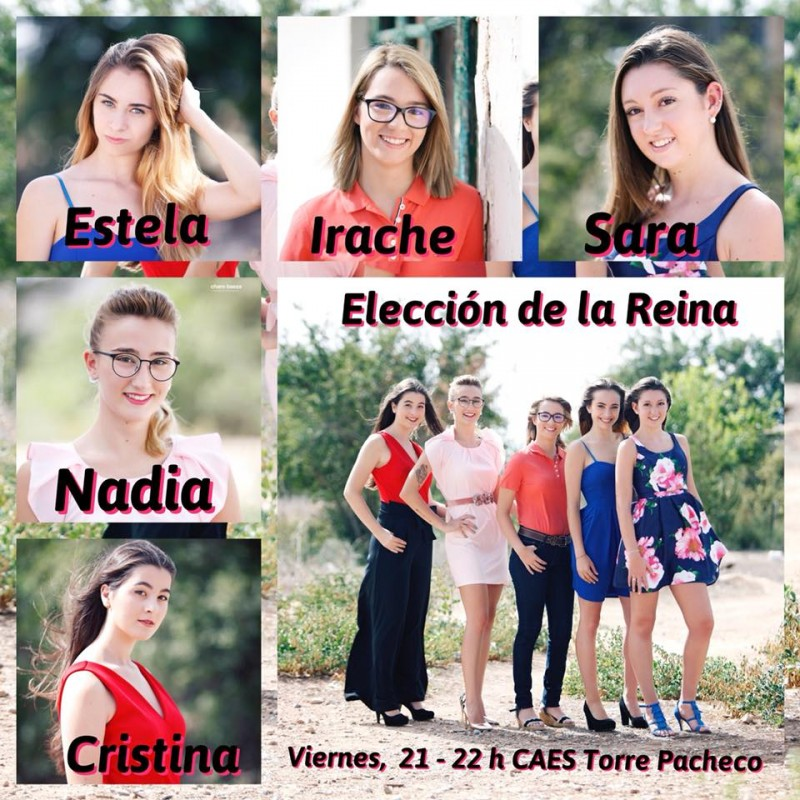 21st September Gala to choose fiesta queens in Torre Pacheco