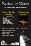 Saturday 29th September Free piano concert in Caravaca de la Cruz