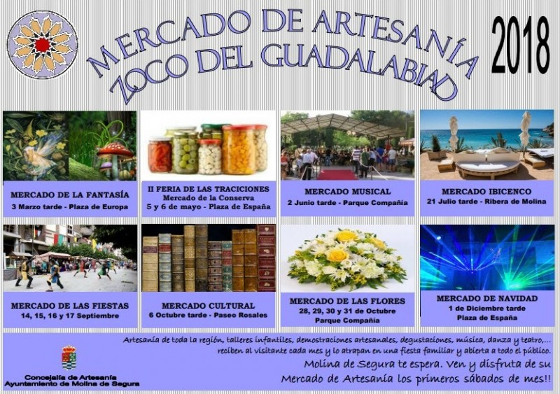 28th to 31st October 2018 artisan and floral market in Molina de Segura