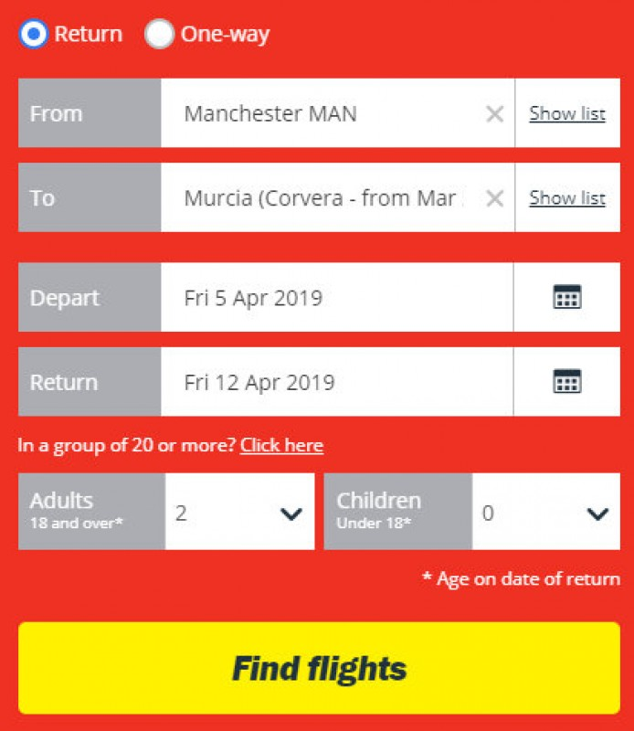 <span style='color:#780948'>ARCHIVED</span> - Jet2 advertise summer 2019 flights into and out of Corvera airport