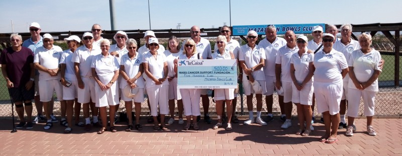 500 euros for MABS from Mazarrón Bowls Club