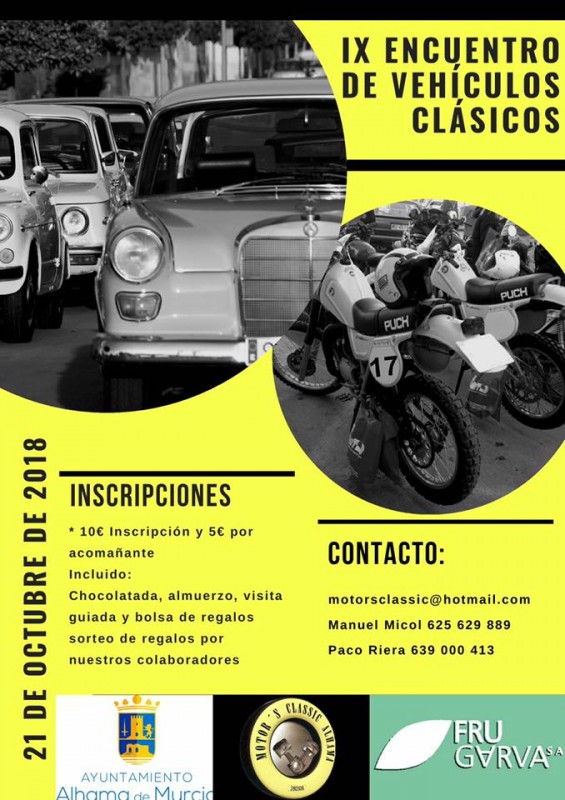 21st October Alhama de Murcia Classic Car Gathering