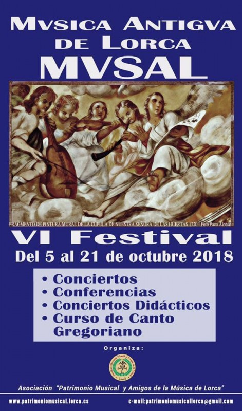 18th to 21st October : Four nights of free early music recitals in Lorca