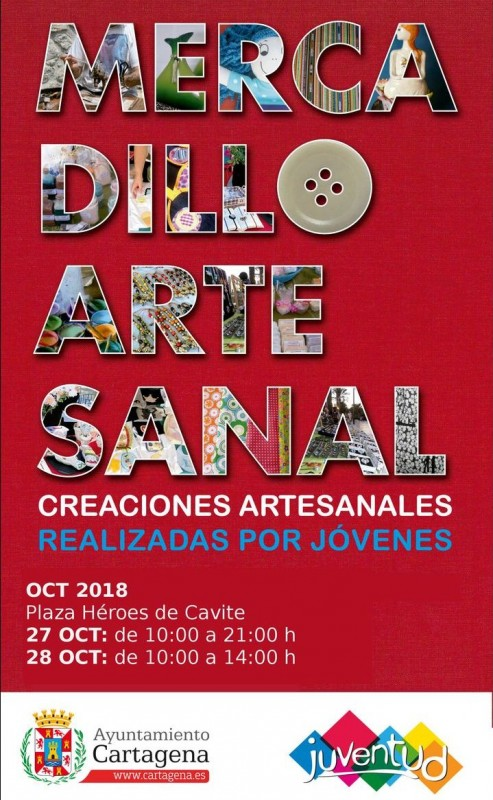27th and 28th October, young people's arts and crafts music on the seafront in Cartagena