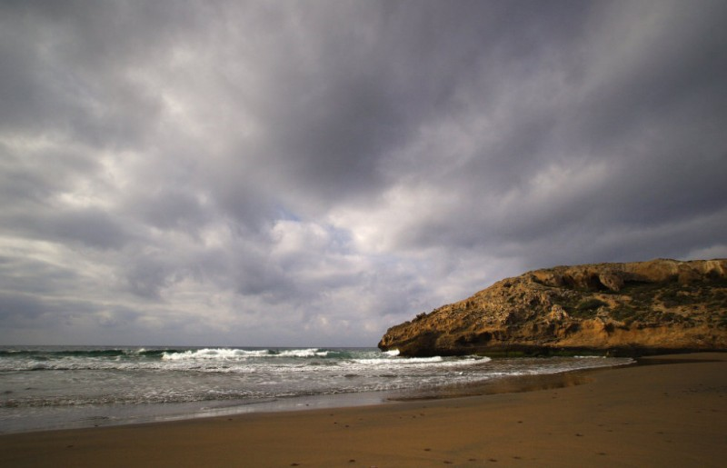 Clouds clearing over Murcia as the threat of rain recedes on Wednesday