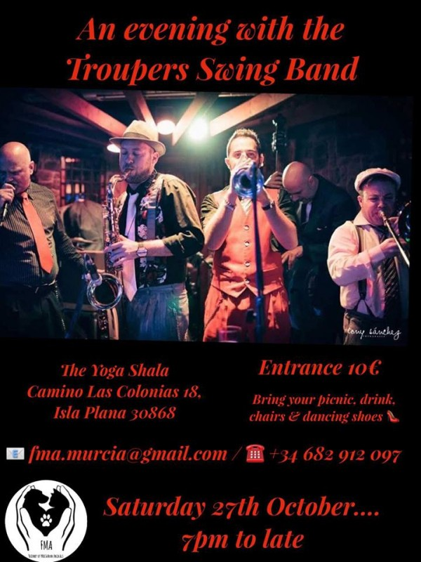 27th October The Swing Troupers Swing Band in Isla Plana