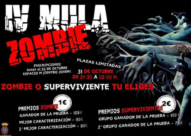 31st October, Zombie survival event in Mula