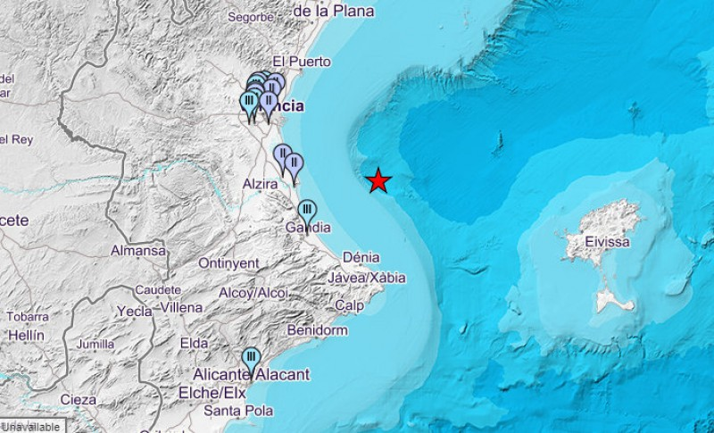 Magnitude 4.0 earthquake off the coast of Valencia