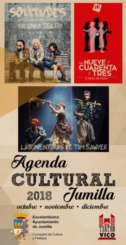 Cultural agenda in Jumilla, October to December 2018