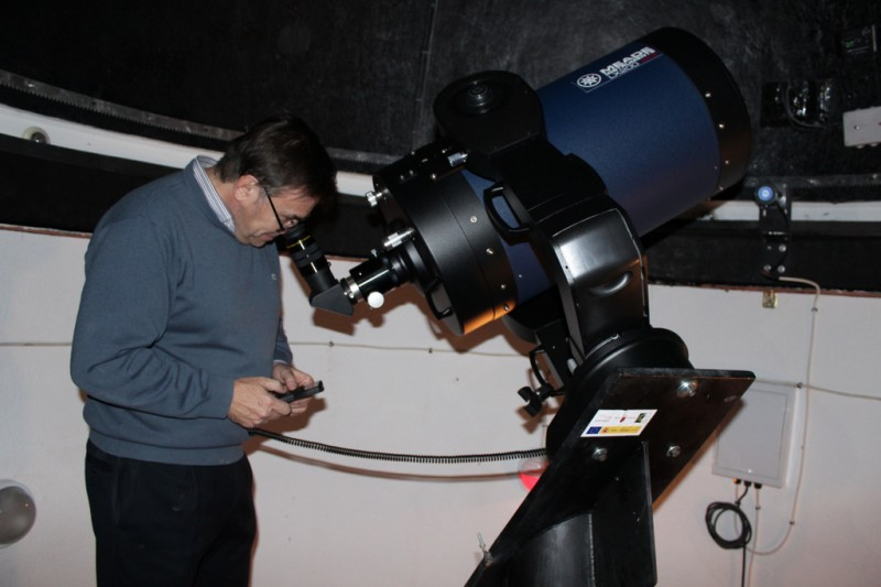 29th December evening visit to the astronomical observatory in Puerto Lumbreras