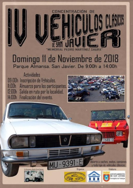 5th to 11th November 2018: what's on in the municipality of San Javier