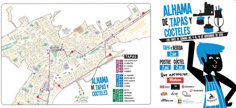 9th to 18th November Alhama de Murcia Tapas Route