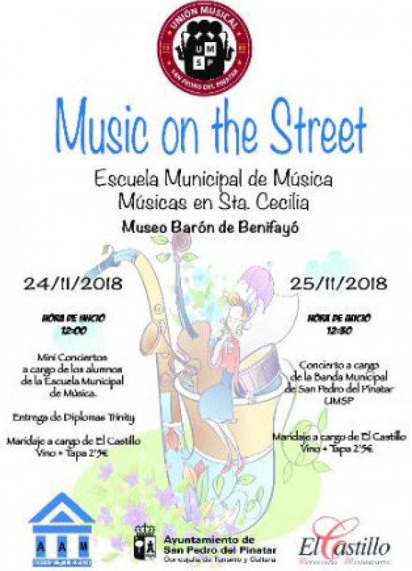 24th and 25th November, music on the streets of San Pedro del Pinatar