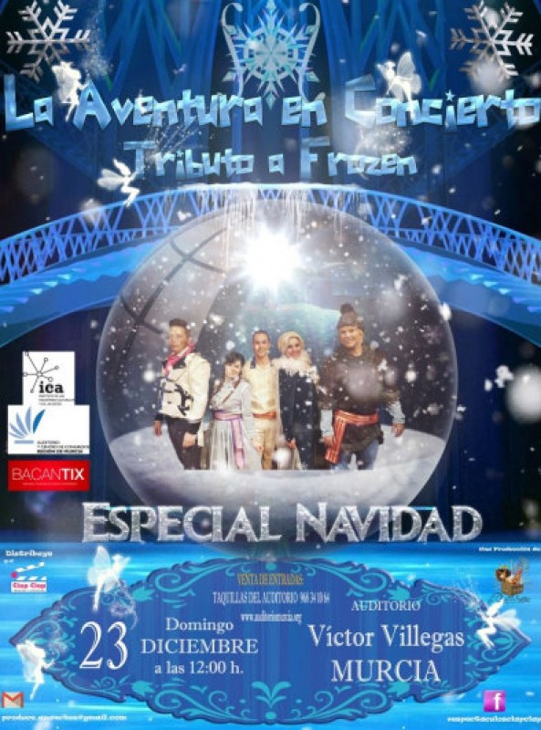 23rd December, lunchtime Frozen tribute show at the Auditorio Víctor Villegas in Murcia