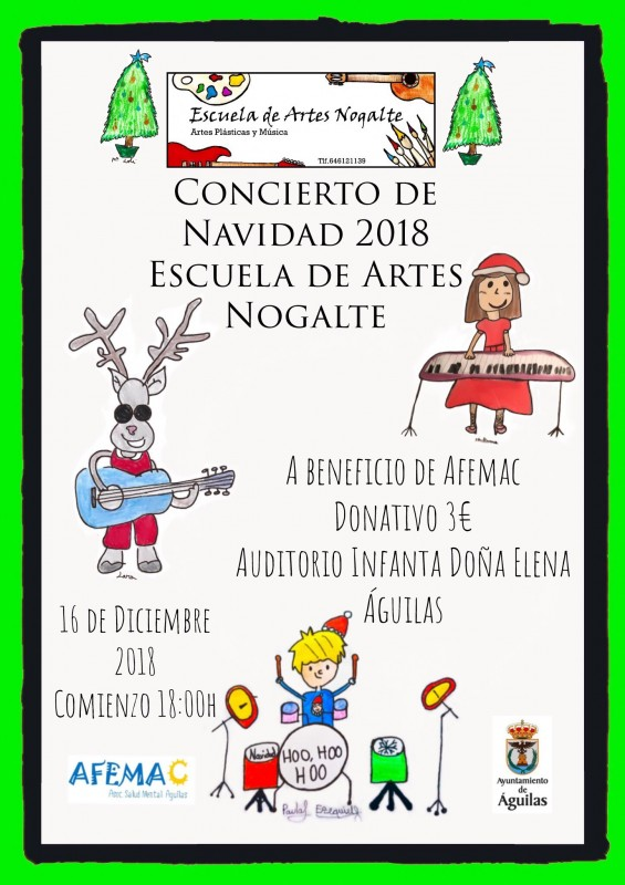 <span style='color:#780948'>ARCHIVED</span> - 16th December Águilas christmas concert by the Escuela de Artes Nogalte