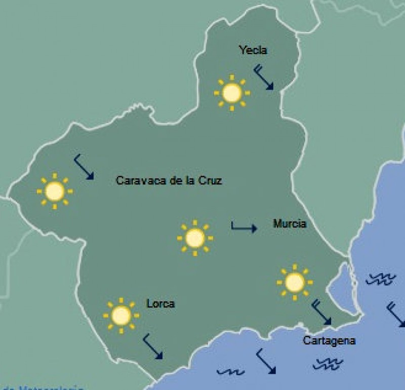 Warm and sunny over the long holiday weekend in the Costa Cálida
