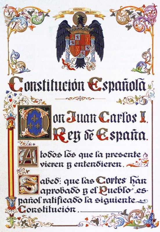6th December, 40th anniversary of the Spanish Constitution