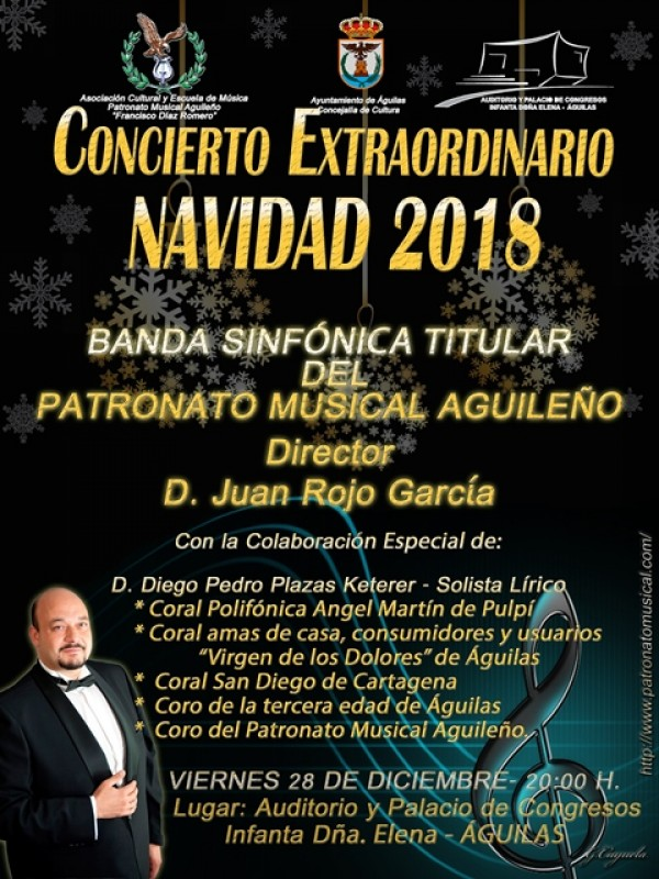 28th December Free entry Christmas band concert in Águilas