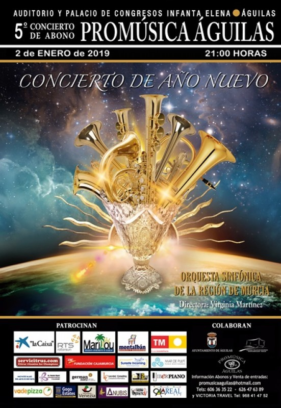 2nd January New Year Concert with the OSRM in Águilas