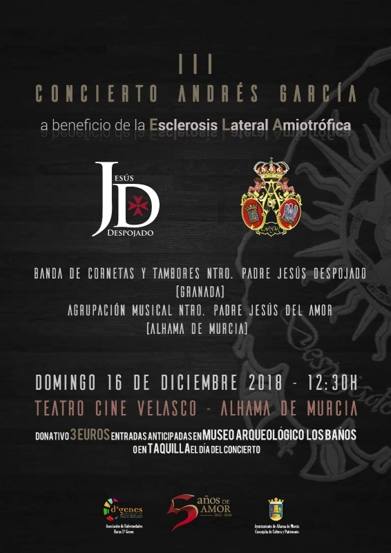 16th December two concerts in Alhama de Murcia, one of them free entry