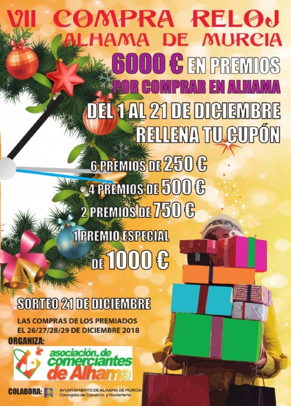1st to 21st December: Win 1,000 euros just for shopping in Alhama de Murcia!