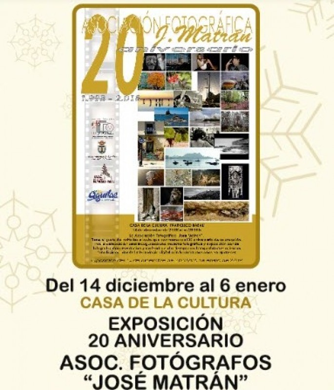 Photographic exhibition in Águilas: 20th Anniversary of the Photographic Association José Matrán