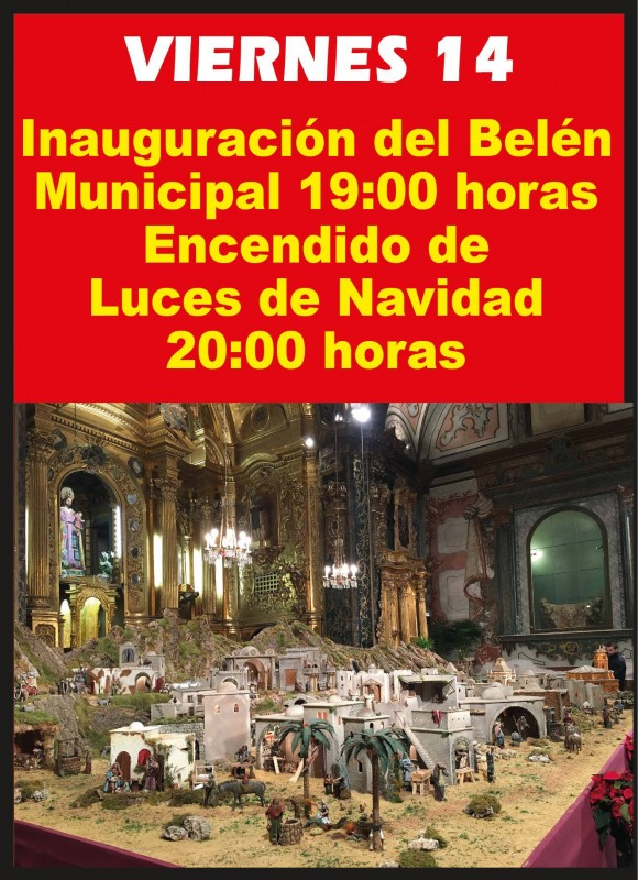 14th December Inauguration of the municipal nativity scene in Caravaca de la Cruz
