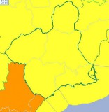 Gale force wind alert extended to the whole of Murcia on Thursday and Friday