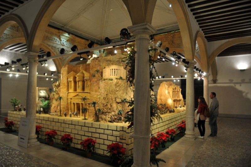 16th December inauguration of the municipal nativity scene in Lorca