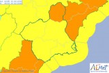 90 km/h winds forecast in northern Murcia on Thursday evening