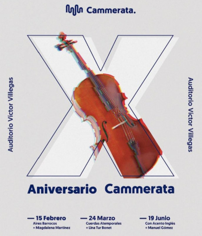 24th March, classics for strings with violinist Lina Tur at the Auditorio Víctor Villegas in Murcia