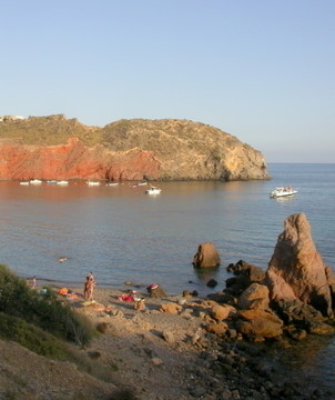 The track running from Bolnuevo-Percheles-Calnegre is a series of stunning coves, inc naturist beaches