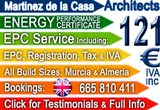Energy Certificates and Planning with Architects Martinez de la Casa Aguilas