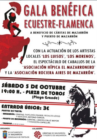 <span style='color:#780948'>ARCHIVED</span> - 5th October, Flamenco and equine spectacular, Puerto de Mazarron