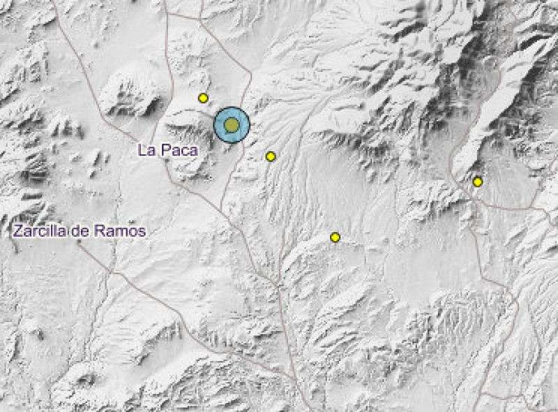 <span style='color:#780948'>ARCHIVED</span> - Five minor earthquakes in the west of the Region of Murcia on Thursday