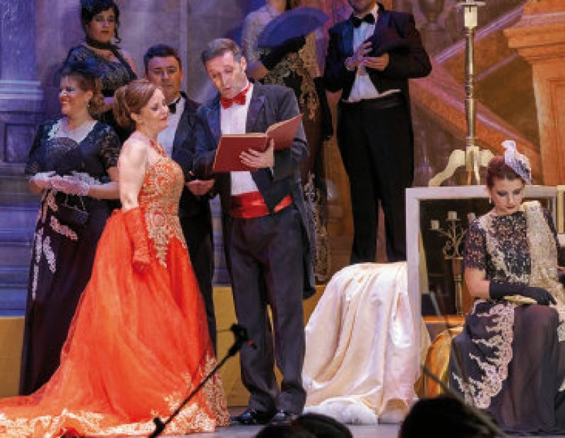 54685662 ARCHIVED - 19th January, zarzuela light opera at the Teatro Guerra in Lorca  Bohemios by Amadeo Vives at the historic main theatre of Lorca Bohemios is  one ...