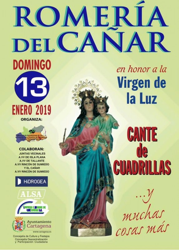 Sunday 13th January 2019 Romería of the Virgen de la Luz in El Cañar, Tallante Cartagena